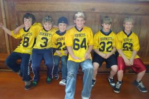 Junior Hornet Players in attendance