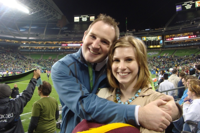 Me and Hillary at the Seattle Sounders FC Game