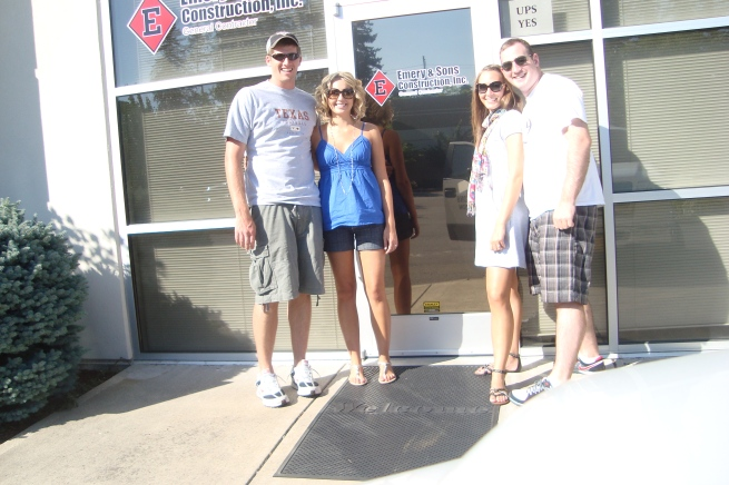 Ryan, Megan, Sophia and Me at Emery and Sons Construction Offices