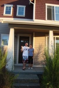 Getting our keys and preparing to move in
