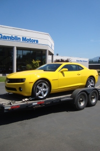 2010 Chevrolet Camaro Yellow Art Gamblin Motors