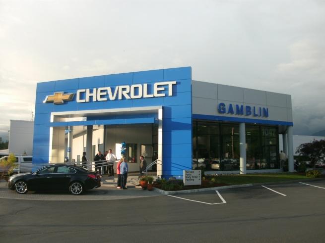 Gamblin Motors Chevrolet Blue Arch